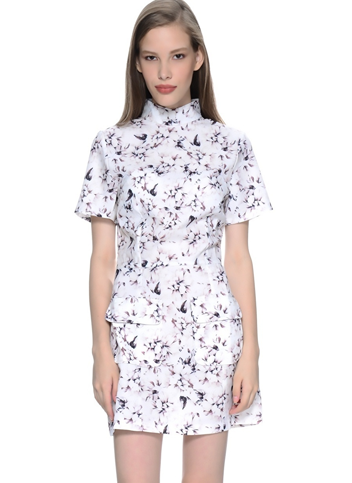 Girls On Film Elbise D2768q1a Floral Print High – 66.99 TL